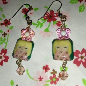 Kokeshi petite earrings NEW